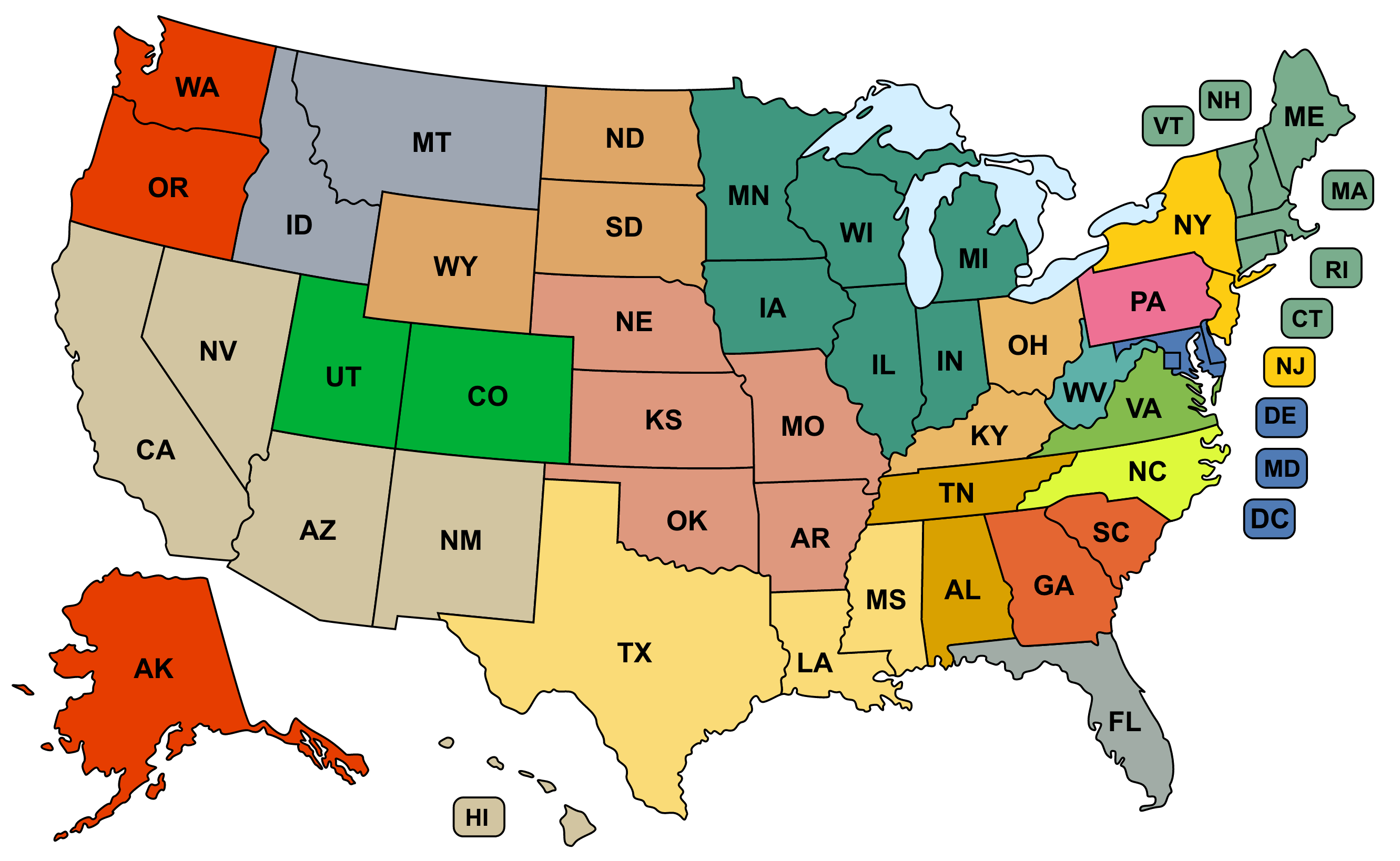 USMap Project Healing Waters Fly Fishing - Us waters map