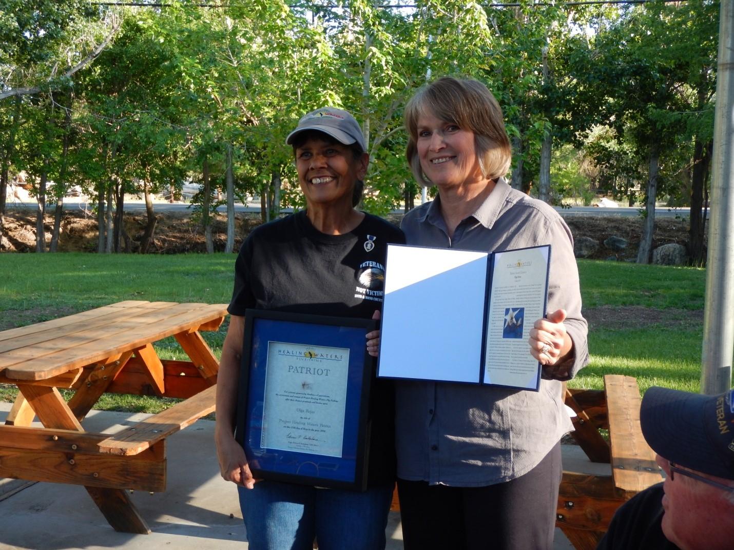 Olga Rojas Recognized with the PHWFF Patriot Award