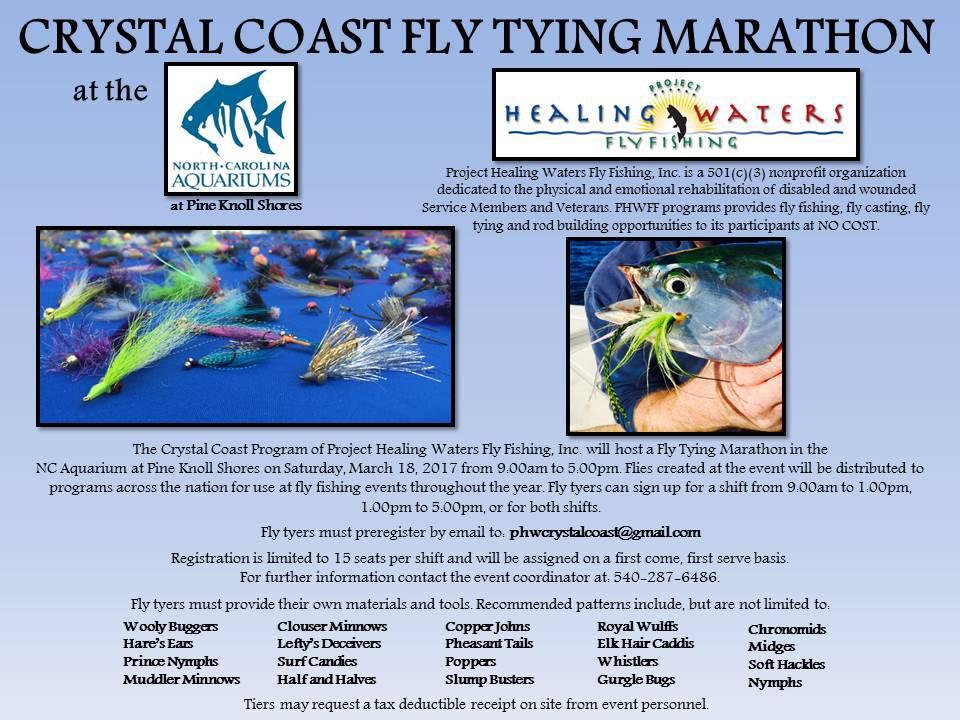Crystal Coast Fly Tying Marathon