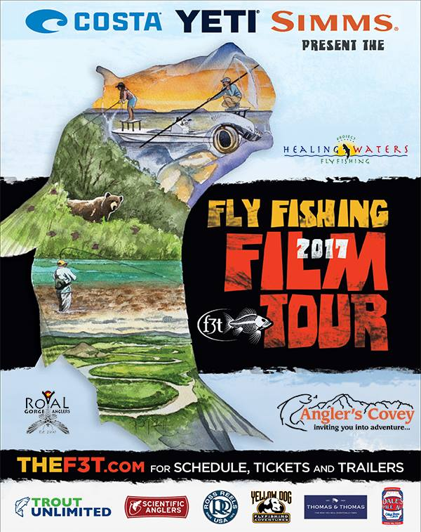 Angler's Covey and Royal Gorge Anglers to present the 9th Annual Fly Fishing Film Tour to benefit  Project Healing Waters Fly Fishing