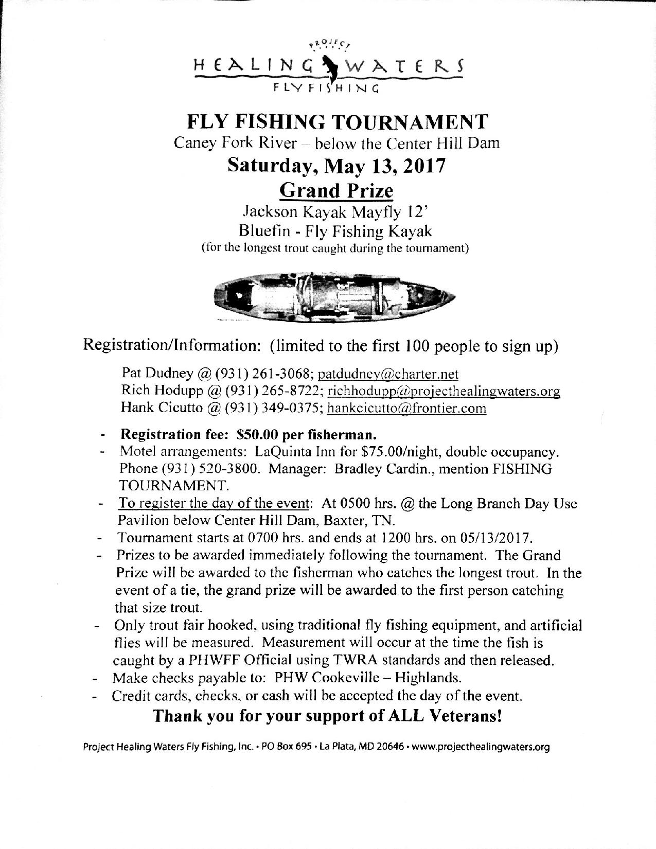 Cookeville Fly Fishing Tournament