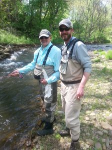 GySgt (ret) Mike Doyle USMC and volunteer guide Dan Morgan