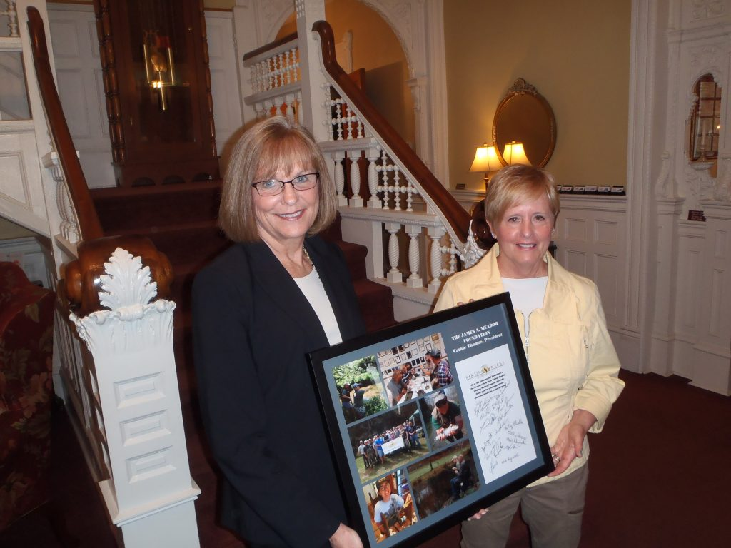 James A. Meador Foundation President Cathie Thomas (L) and PHWFF Program Lead Kathy Mueller (R)
