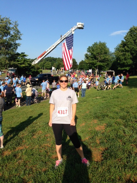 Chief Program & Administrative Officer, Megan Pierce at the 5th Annual 4 Our Freedom 5K