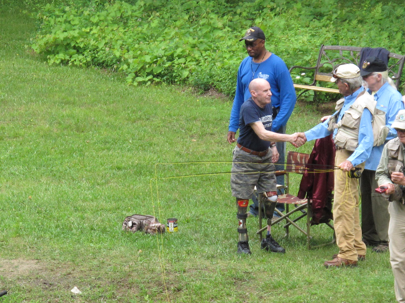 Veterans enjoy memorable outing to the Limestone Trout Club