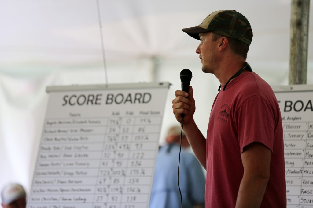 Brian Trow welcomes the community to the 10th Annual Mossy Creek Invitational