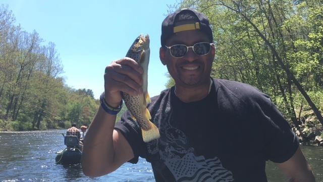 Micheal with a Farmington River Brown