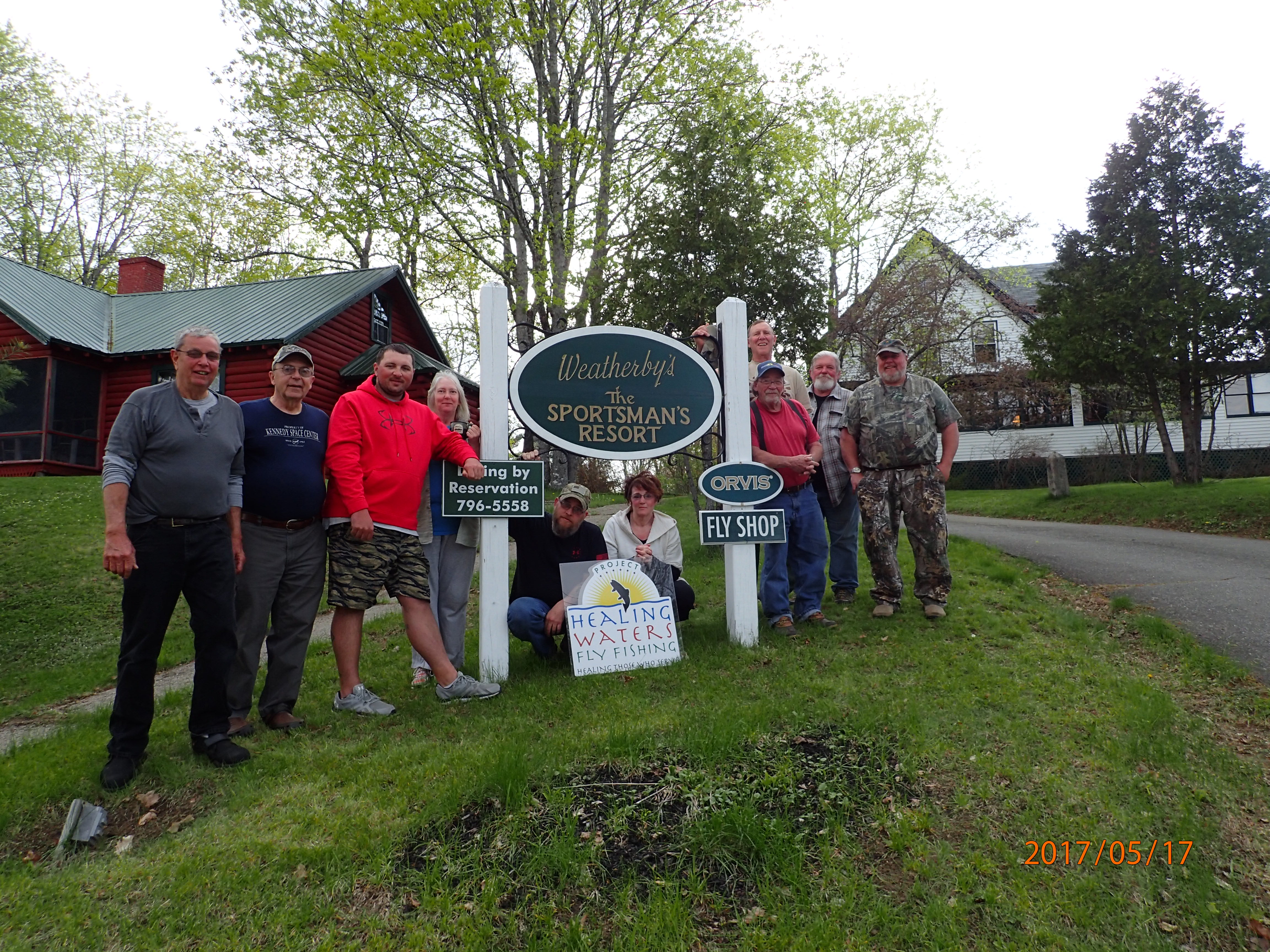 Weatherby's Lodge hosts veterans from PHWFF New England for a memorable angling experience