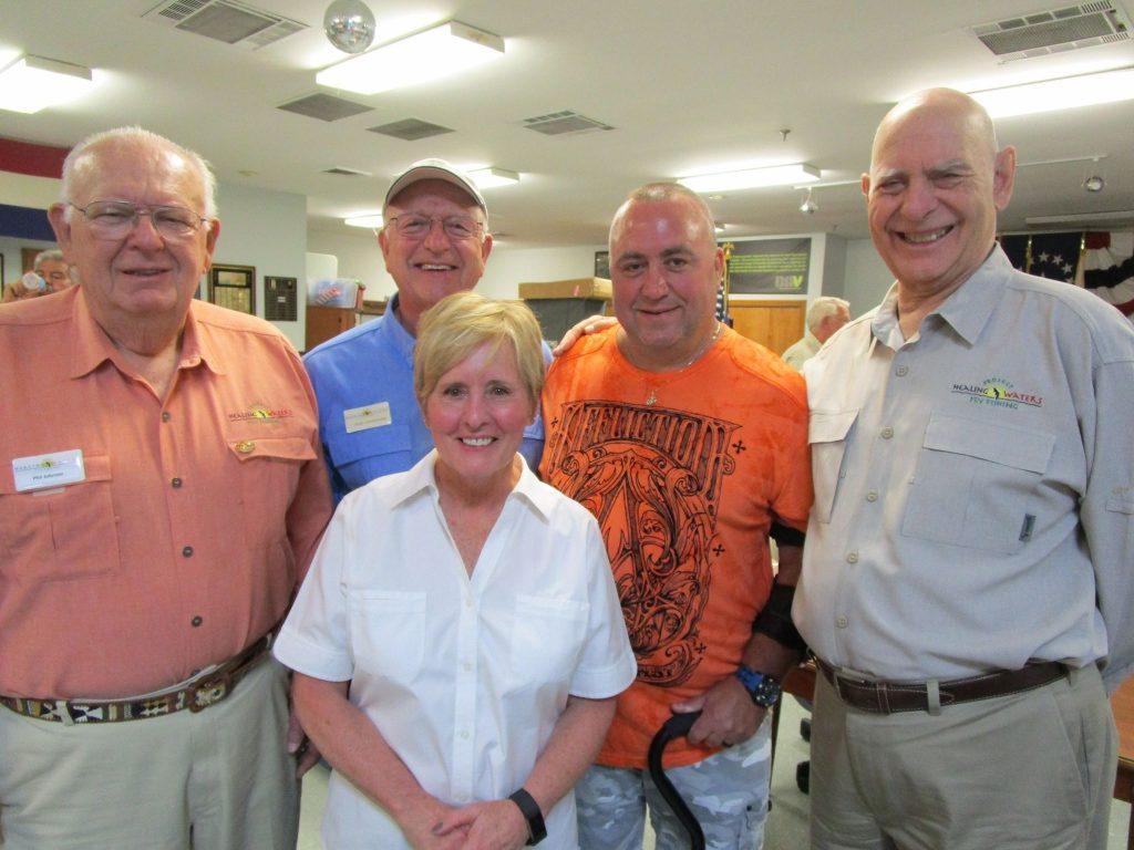 Phil Johnson, Bob Crawshaw, Kathy Mueller, Jake Blizzard, and Ray Babineau