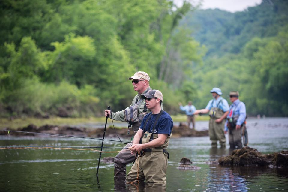 The clinch river hosts veterans from phwff knoxville the for Healing waters fly fishing