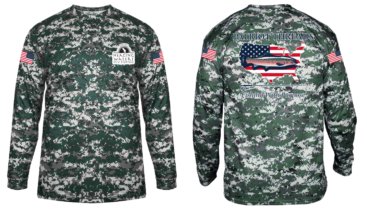 Patriot Threads supports Project Healing Waters Fly Fishing with new trout fishing shirt