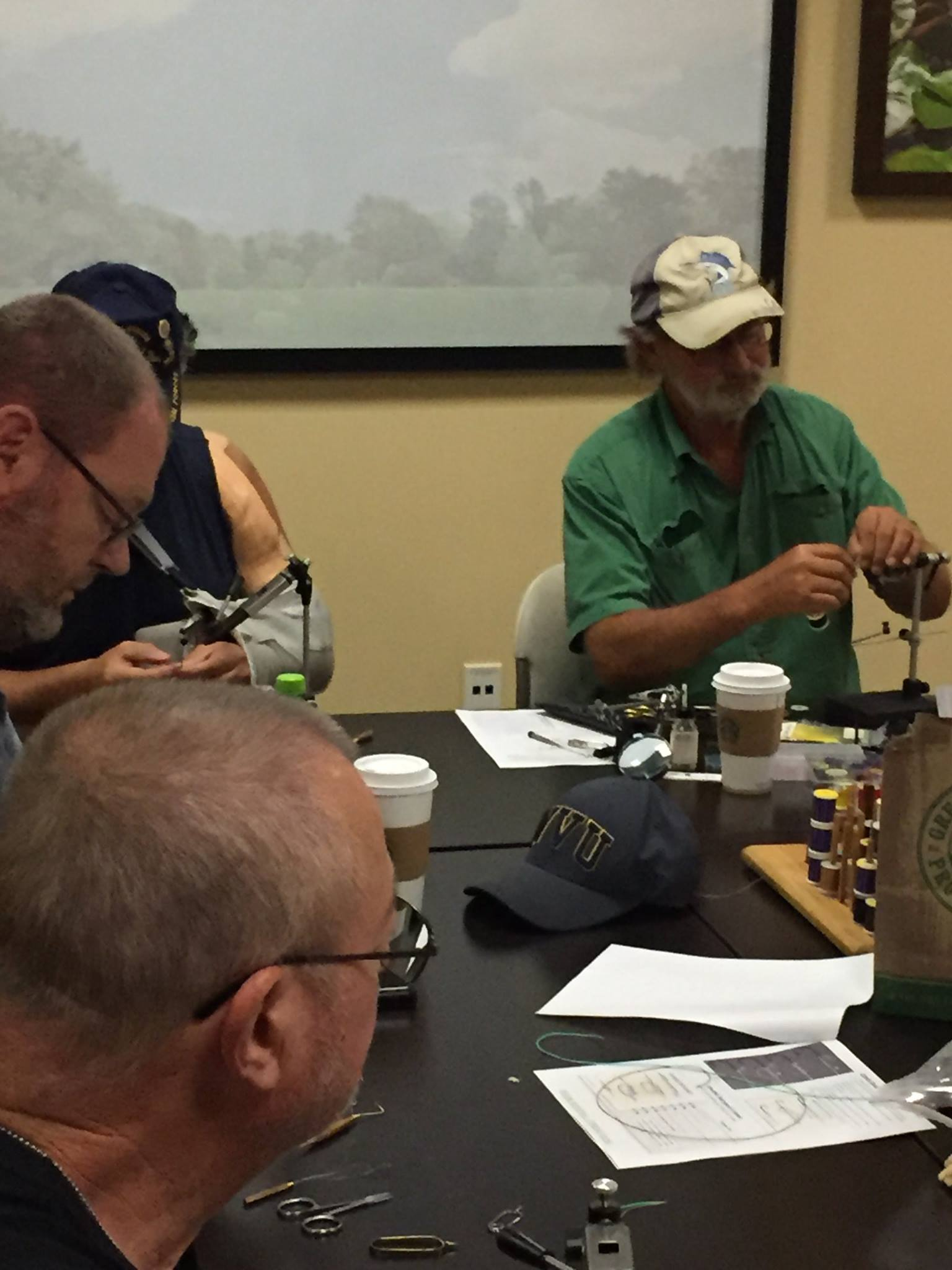 Prepping for fall trout fishing with the PHWFF Charlotte, NC Program