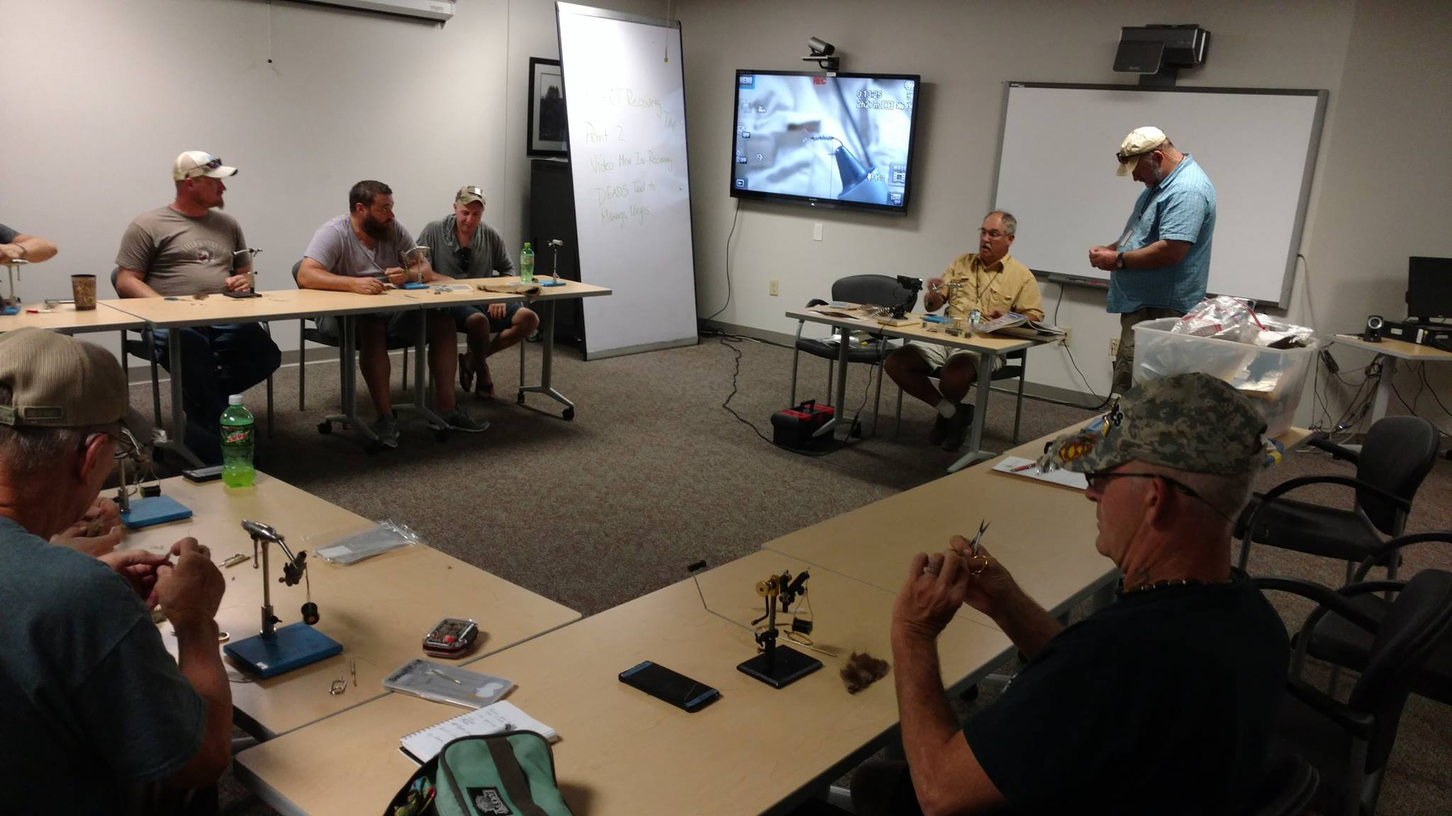Veterans Teaching Veterans: Fly Tying Class with PHWFF Johnson City, TN (VIDEO)