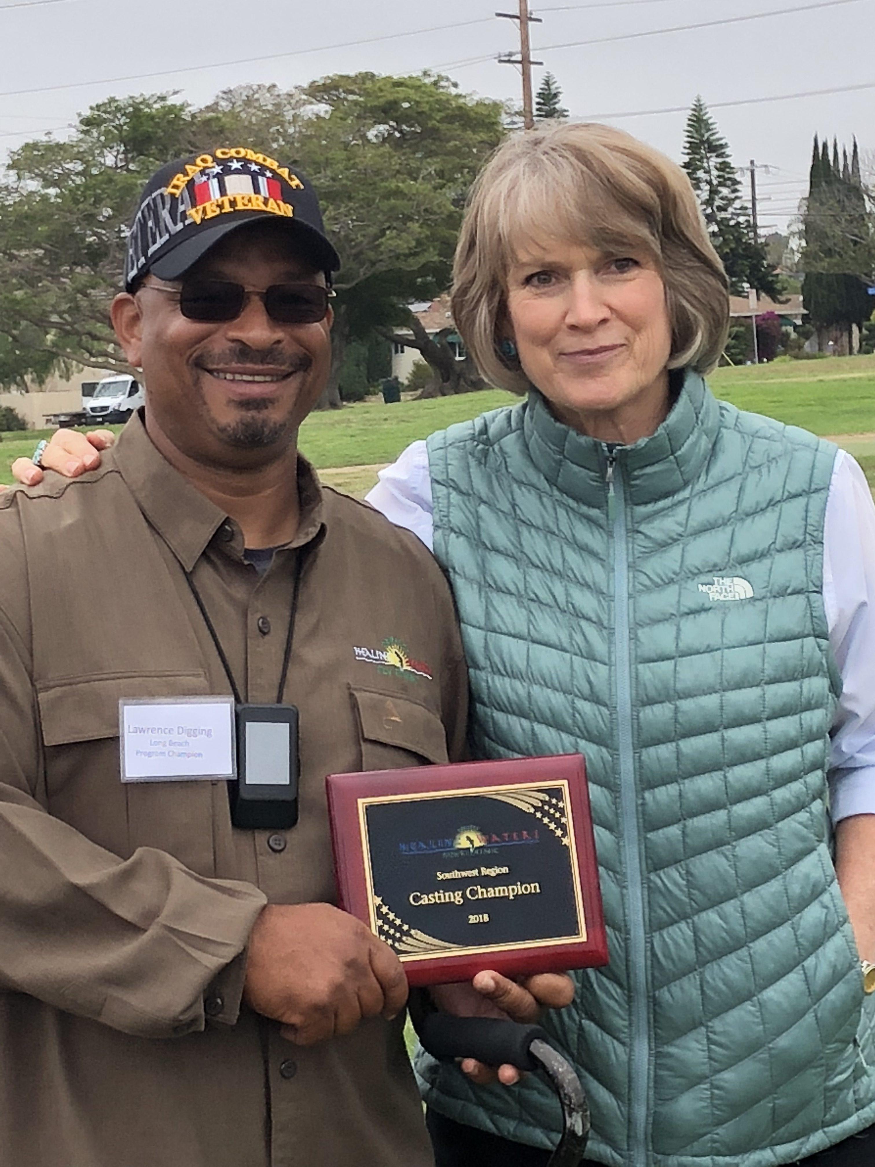 Southwest Region Casting Champion Lawrence Digging