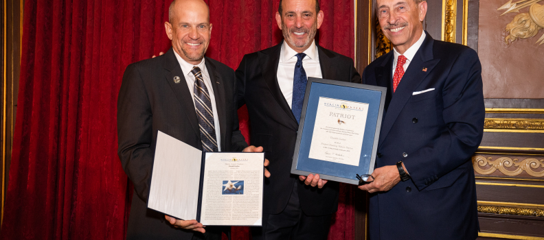 Patriot Award bestowed upon Don Garber for his Extraordinary Service