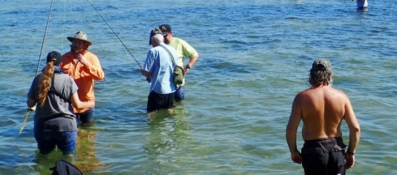 Suncoast Fly Fishers host veterans from the Bay Pines VAMC