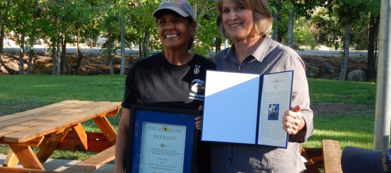 Olga Rojas Recognized with the PHWFF Patriot Award