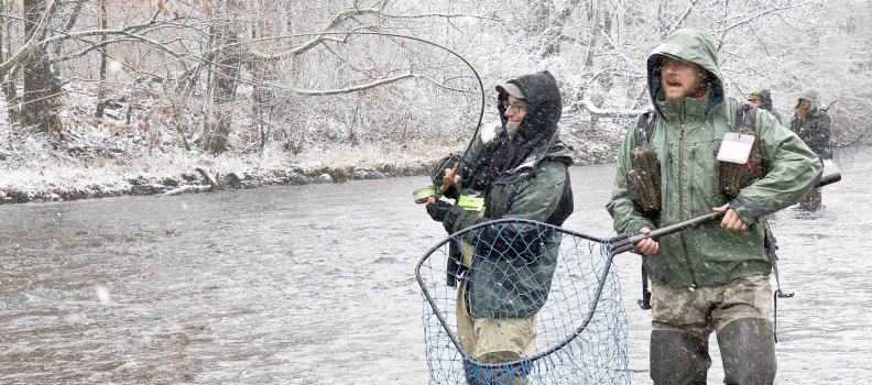 PHWFF participants hunt chromers on the New York's Salmon River