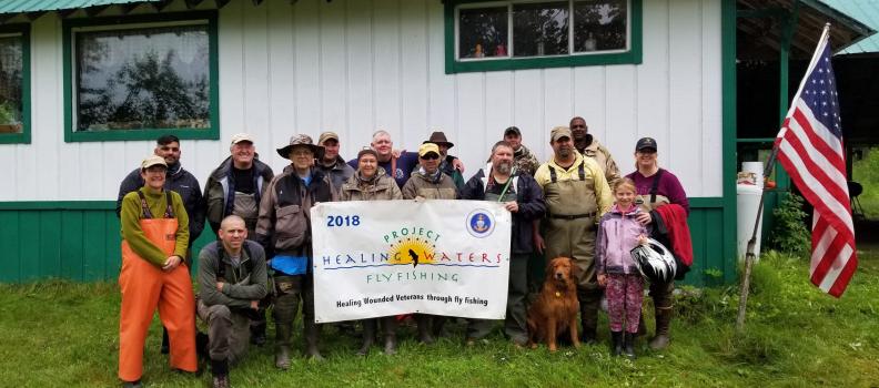 Kodiak fly-fishing helps military veterans heal