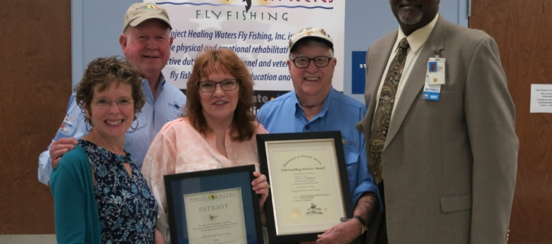 Edward and Ava Carson recognized for their extraordinary service to the veterans served by PHWFF