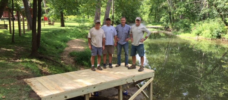 Project Healing Waters volunteers and Double Spur Outfitters Build Fishing Access Ramp