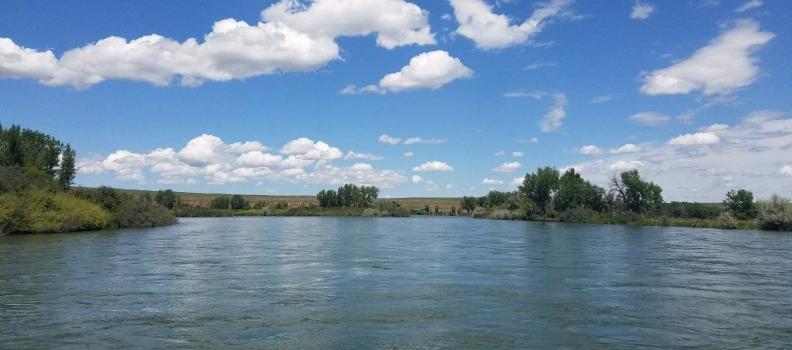 Bighorn River trip at Cottonwood Camp
