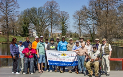 Spring weather and great fishing at the Old Soldiers Home in Washington, DC