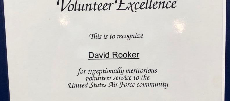 JBER Volunteer Excellence Award Given to David Rooker