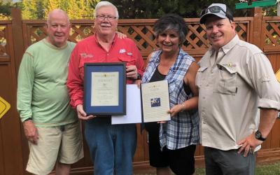 Patriot Award presented to Steve and Barbara Lafflam