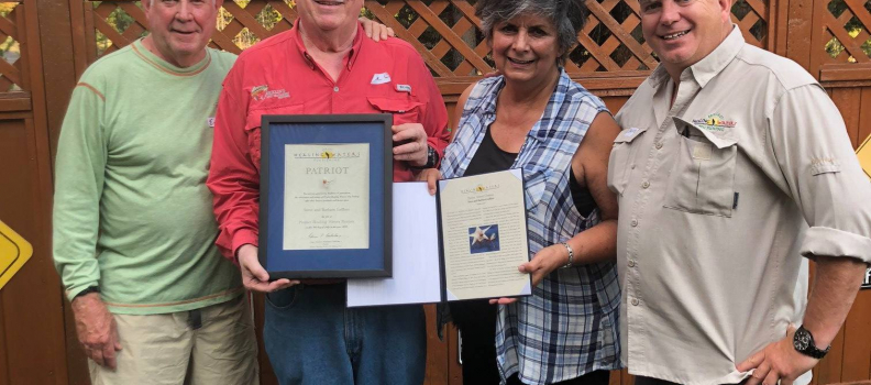 Patriot Award presented to Steve and Barbara Lafflam
