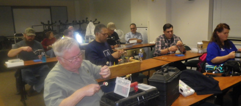 Fly tying and Christmas Celebration with the PHWFF Fort Meade Program