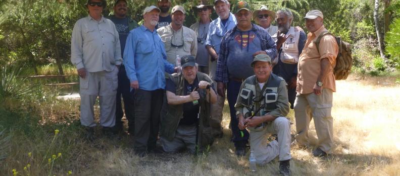 PHWFF Sepulveda, California Veterans Fish the San Gabriel River