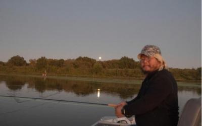 A Texas Ranch, Lake Emma, Bear, and Ron