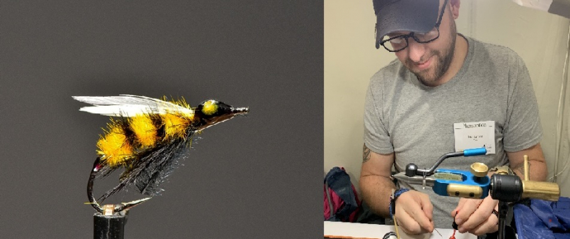 Learn to tie a Bumble Bee Fly with SGT Lee Barbee