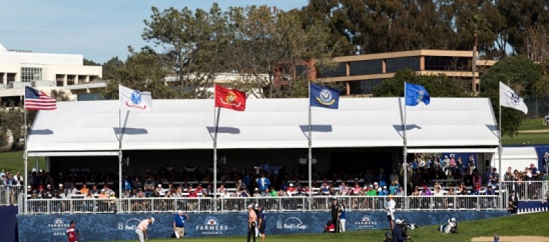 At Farmers Insurance open, a salute to military at Patriots' Outpost