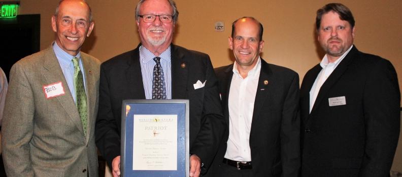 The Patriot Award bestowed upon Senator Tommy Tucker